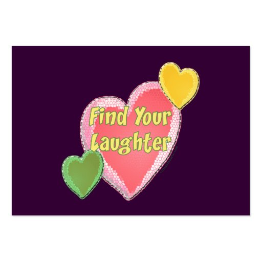 Love Laughter Hearts Business Card Templates