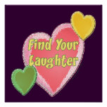 Love Laughter Hearts Poster