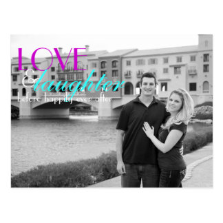 Love & Laughter Rehearsal Invitation Postcard