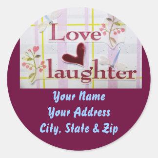 Love & Laughter Classic Round Sticker