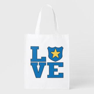 Love Law Enforcement Grocery Bags