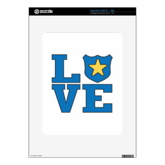Love Law Enforcement Decal For The iPad
