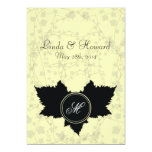"Love Leaf Creme Wedding Invitation 5"" X 7"" Invitation Card"