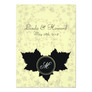 Love Leaf Creme Wedding Invitation