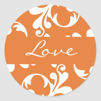 Love Leaf Flourish Envelope Sticker Seal