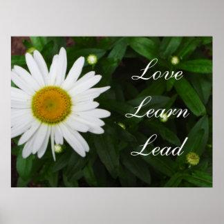 Love, Learn, Lead Daisy Print