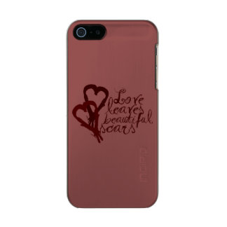 Love Leaves Beautiful Scars Metallic Phone Case For iPhone SE/5/5s