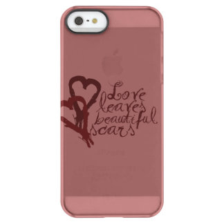 Love Leaves Beautiful Scars Permafrost® iPhone SE/5/5s Case