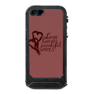 Love Leaves Beautiful Scars Waterproof Case For iPhone SE/5/5s