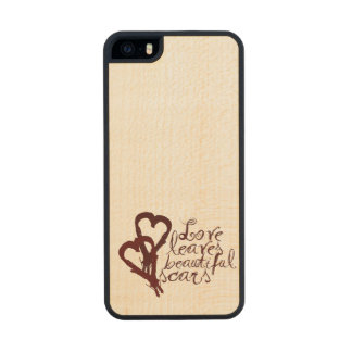 Love Leaves Beautiful Scars Wood iPhone SE/5/5s Case