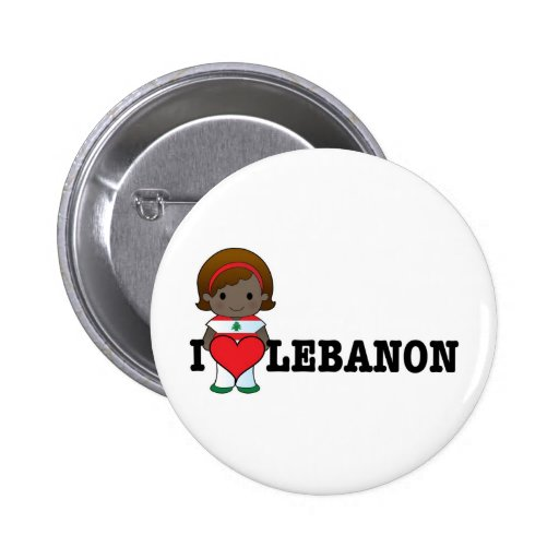 Love Lebanon Pinback Button