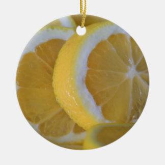 Love Lemons Ceramic Ornament