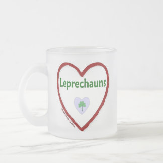 Love Leprechauns Frosted Glass Coffee Mug