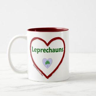 Love Leprechauns Two-Tone Coffee Mug