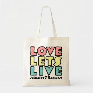 Love Lets Live (Alternate) / Abort73.com Bags