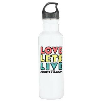 Love Lets Live (Alternate) / Abort73.com Water Bottle