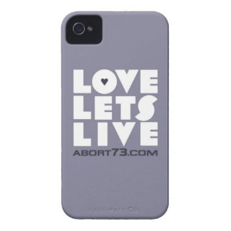 Love Lets Live (Slate) / Abort73.com iPhone 4 Cover