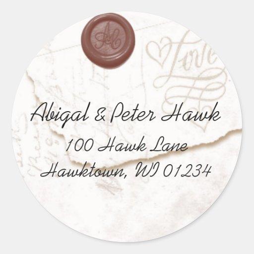 Love Letter Address Label Stickers
