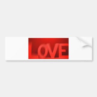 love letter car bumper sticker