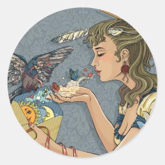 Love letter classic round sticker