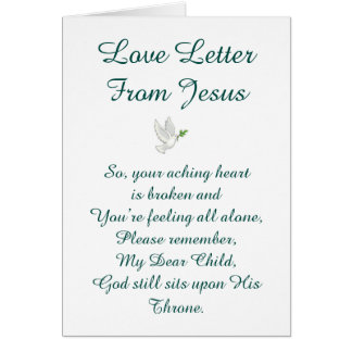 Love Letter From Jesus Card