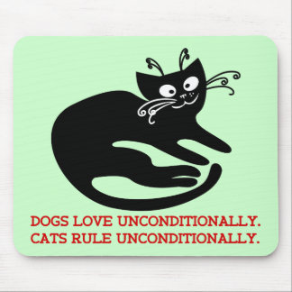 Love letter from my cat: obedience training mouse pad