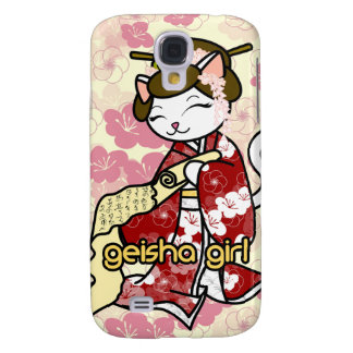 Love Letter Geisha Kitty Galaxy S4 Cover
