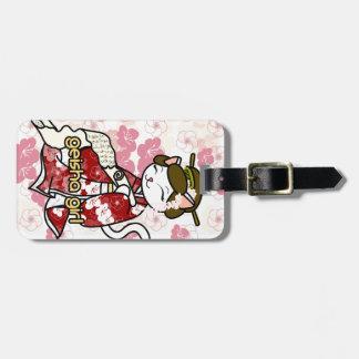 Love Letter Geisha Kitty Luggage Tags