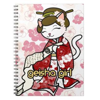 Love Letter Geisha Kitty Note Books