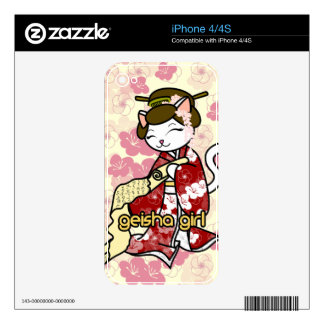 Love Letter Geisha Kitty Skins For The iPhone 4