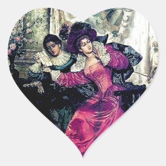 Love letter painting heart sticker