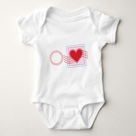 Love Letter Stamp Baby Bodysuit