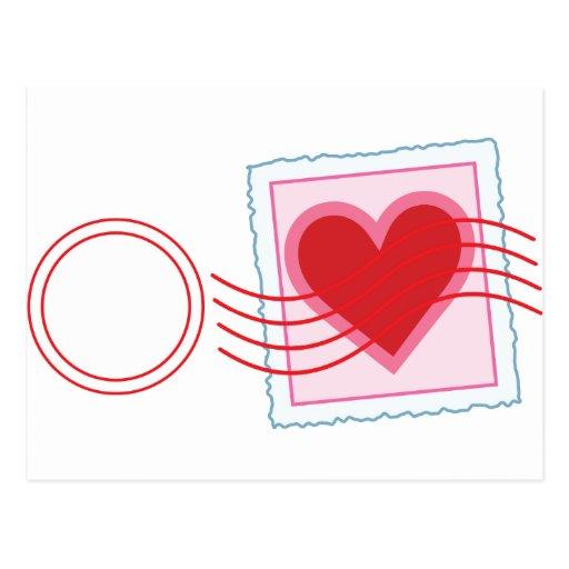 Love Letter Stamp Postcards