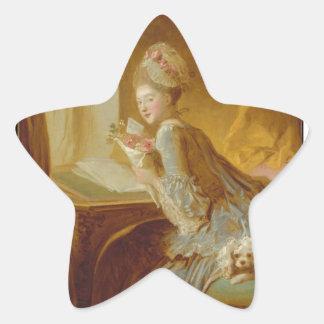 Love letter star sticker