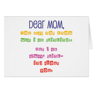 Love letter to Mom Card