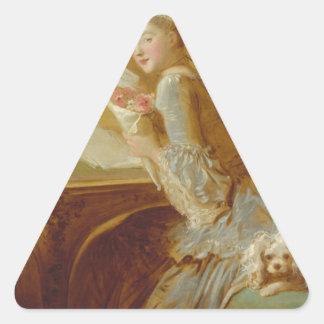 Love letter triangle sticker