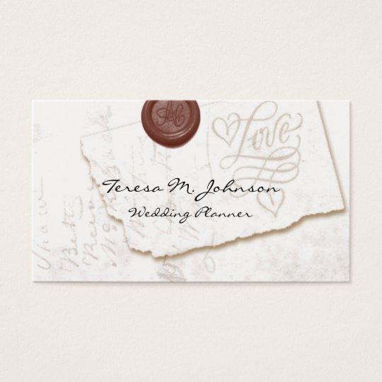 Love Letter Wedding Planner Business Cards