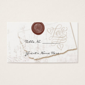 Love Letter Wedding Table Seating Cards