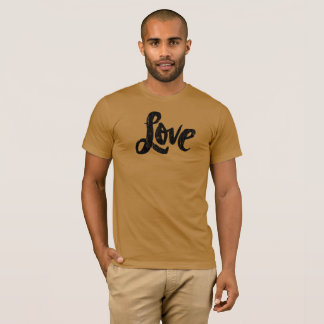 LOVE Lettering Distressed Hippie Valentine Type T-Shirt