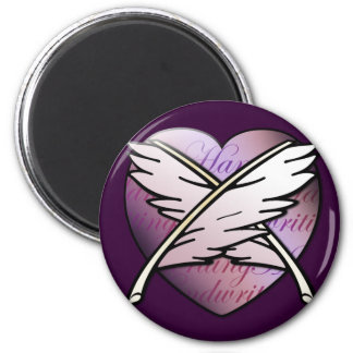 Love Letters 2 Inch Round Magnet