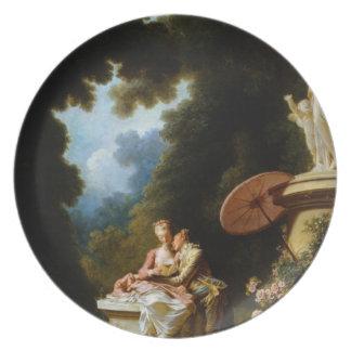 Love Letters by Jean Honore Fragonard Melamine Plate
