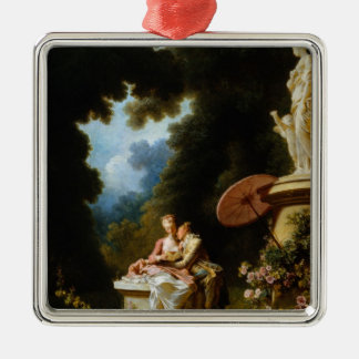 Love Letters by Jean Honore Fragonard Metal Ornament