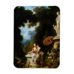 Love Letters by Jean Honore Fragonard Rectangular Magnets