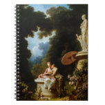 Love Letters by Jean Honore Fragonard Spiral Notebook