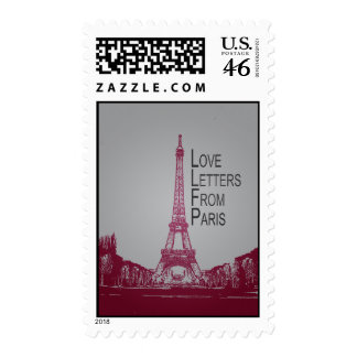 Love Letters From Paris Postage Stamp