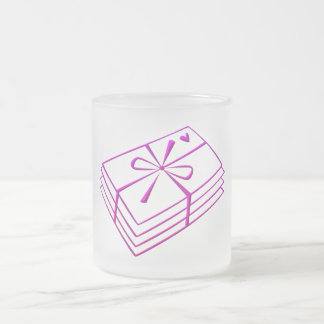 Love letters frosted glass coffee mug