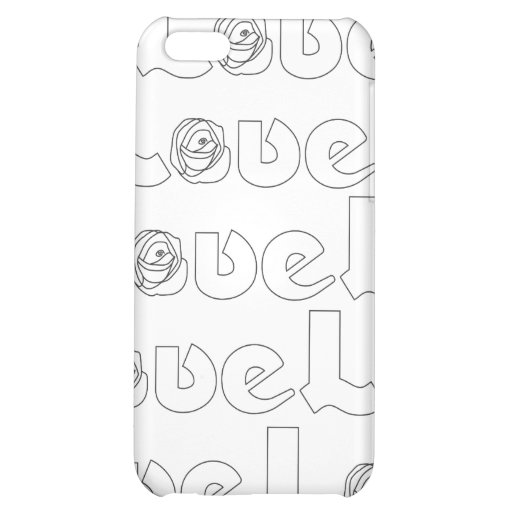 Love Letters in Black  iPhone 5C Cases