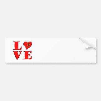 LOVE Letters ( L♥VE) Car Bumper Sticker