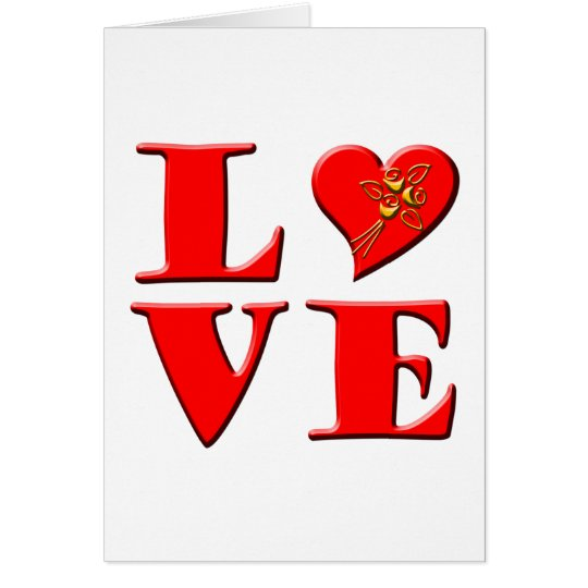 LOVE Letters ( L♥VE) Card