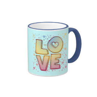 Love Letters Ringer Coffee Mug